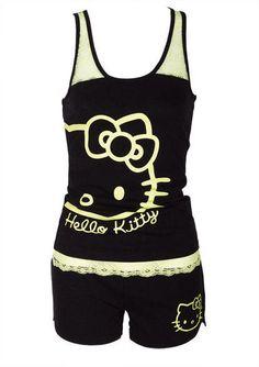 Hello Kitty Lace Tank & Short pajama Set