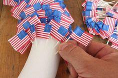 American Flag Toothpick Wreath :: Hometalk