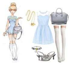 """Cinderella"" by flotsamcello ❤ liked on Polyvore featuring Disney, VANELi, Mandi, Givenchy, Bling Jewelry and Aurélie Bidermann"
