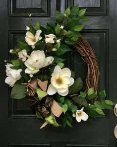Southern Style Magnolia Wreath