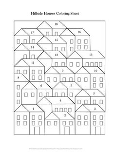 Pretty Little Quilts: Hillside Houses QAL: Laying Out Your Blocks: