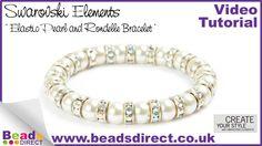 Jewellery Making- SWAROVSKI Elements crystal elastic bracelet- How to ma...
