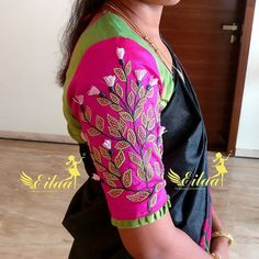 Best saree blouse sleeve designs images in 2020 - Simple Craft Ideas Hand Work Blouse Design, Kids Blouse Designs, Simple Blouse Designs, Stylish Blouse Design, Silk Saree Blouse Designs, Bridal Blouse Designs, Traditional Blouse Designs, Designer Blouse Patterns, Boutique