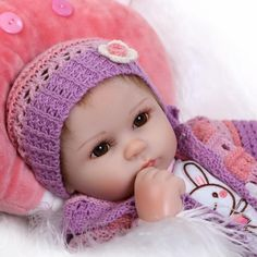 """16 """"weichem silikon reborn baby doll toys lebensechte 40 cm vinyl reborn babys spielen haus vor dem schlafengehen spielzeug geburtstagsgeschenk für mädchen"""
