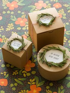 darling rosemary wreath gift toppers/tags