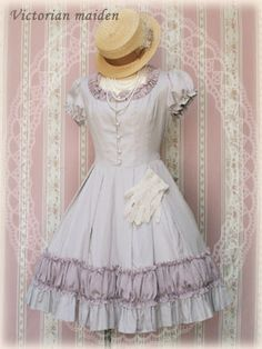 Victorian maiden dress without matching jacket.