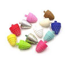 Decorative Tassels - 6 Pine Cone Tassels, No Caps - Mixed Color Assortment - Tassels for Jewelry, Purse Tassel, Key Chain Tassel - TC-P001 #etsy #diycraftsupplies #tasselcharms #decorativetassels