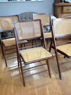 Great Art Deco 1920s Folding Dining Garden Conservatory Wicker Chairs Delivery  Poss | EBay