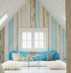 coastal reclaimed wood wall
