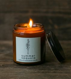 Scented Tallow & Beeswax Candle | Lightly scented with evergreen or souchong black tea, these ca... | Candles