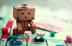 Danbo loves playing monopoly