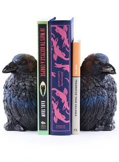 Nevermore Raven Bookends by Streamline, Black