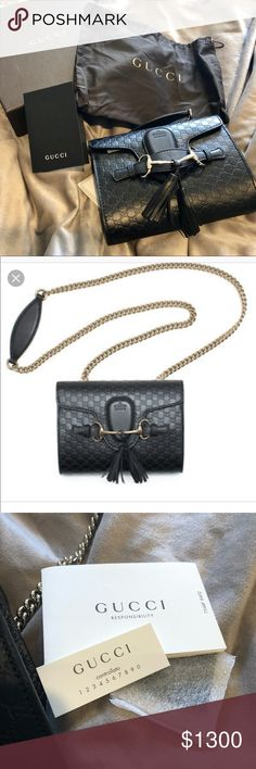 Gucci Mini Emily Guccissima Chain Shoulder Bag 60b3b8cc073ee