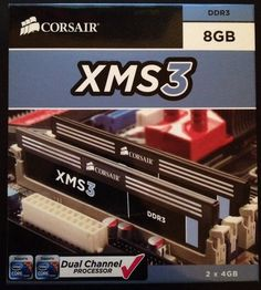 CORSAIR XMS3 8GB DDR3 1600MHz 2x4GB CL9