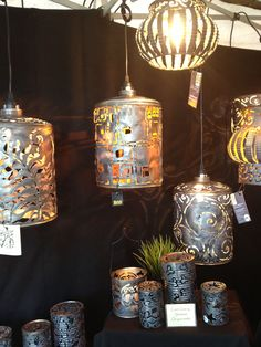 icu ~ DIY Lanterns To Light Up Your Outdoor Space : Home Decor Projects ~ Home Design Ideas Aluminum Can Crafts, Tin Can Crafts, Aluminum Cans, Metal Crafts, Diy Crafts To Sell, Diy Crafts For Kids, Tin Can Art, Tin Art, Diy Luminaire
