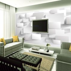 accent living abstract mural paper wallpapers walls colossalous cubic murals beibehang embossed bedroom 8d