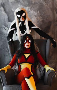 Marvel | Arachne and Spider-Woman by Ledum.deviantart.com on @DeviantArt