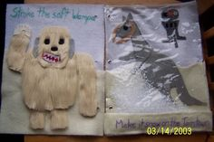 The Quiet Book Blog: Courtney's Star Wars Zoo Quiet Book -- Stroke the soft Wampa - Make it snow on the Tauntaun.