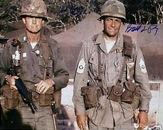 "1965: Lt. Col. Hal Moore and CSM Basil Plumley. These two brave leaders of soldiers were portrayed in the film ""We Were Soldiers"" by Mel Gibson and Sam Elliott, respectively."