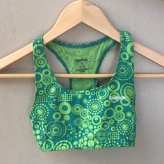 Reebok Sports Bra Gently used green sports bra. Great for gymnastics and other sports. Reebok Other