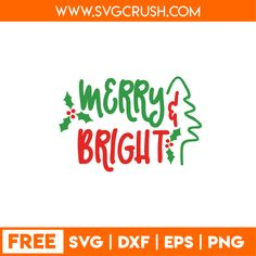 SVGCrush - FREE SVG FILES - Merry Christmas, Happy Christmas, Christmas Tree, Santa Claus, Reindeer