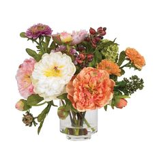 Peony Silk Flower arrangements.