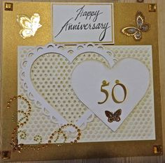 A 50th Wedding Anniversary card for Liz and Jabe