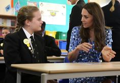 "hrhduchesskate: ""Heads Together"" Campaign at Stewards Academy, Harlow, Essex, September 16, 2016-Duchess of Cambridge chats with a student"