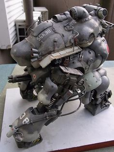 Maschinen Krieger is a line of scale models kits based on the universe created by Kow Yokoyama, Hiroshi Ichimura and Kunitaka Imai in the 80's. Description from awesome-robo.com. I searched for this on bing.com/images