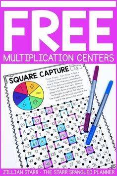 FREE Multiplication Centers to help your students memorize their multiplication facts and build fact fluency. A mix of printable games, logic puzzles, and hands on activities that are perfect for and grade math centers and stations! Multiplication Activities, Math Activities, Numeracy, Math Fractions, Math Blocks, Third Grade Math, Grade 3, 4th Grade Math Games, Math Facts