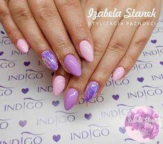 Figo Fago oraz Maybe Baby Gel Brush + folia Mirror Effect by Izabela Stanek Indigo Educator #nails #nail #nailart #indigo #mirror #effect #magic #foil #violet #pastel #pantone #quartz #spring