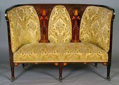 Салонная софа 1901 год, Франция / 1901 - An Art Nouveau mahogany salon sofa