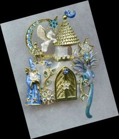 Kirks Folly Camelot Castle Pin Dragon Wizard and Unicorn | eBay