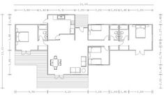 Planos Casas de Madera Prefabricadas: casa prefabricada de 156 m2 Cod.00137