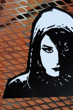 Lisbeth Salander Girl with Dragon Tattoo vinyl sticker by studio61, $5.00  (a favorite trilogy)