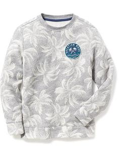 Printed Fleece Sweatshirt for Boys