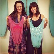 #diy market bags using @Roxy tshirts! Thanks so much @HonestlyWTF