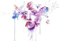 Image result for watercolor abstract portrait painting