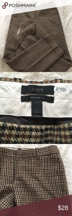 J crew favorite fit trouser pants. Very cute pants and in great condition. Thick material pants, very warm J. Crew Pants Trousers