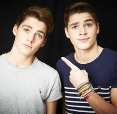 Jack and Finn Harries.