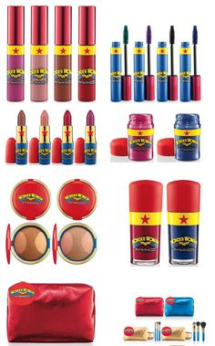 MAC Wonder Woman Collection- not for a baby but for when dress up casas que foi na minha casa por correio agoraand fun make-up times come around! Mac Makeup, Makeup Cosmetics, Makeup Brushes, Beauty Makeup, Mac Collection, Makeup Collection, Make Beauty, Beauty Care, Make Up Looks