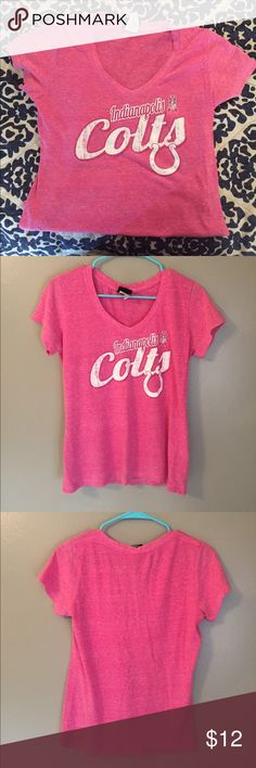 NFL team apparel-Colts breast cancer awareness tee NFL team apparel. Colts pink breast cancer awareness tee. Some pilling NFL team apparel Tops Tees - Short Sleeve