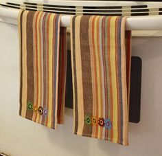 MayaMam Weavers    These hand-woven and hand-embroidered kitchen towels are woven in a pattern traditional for our town of Cajolá.