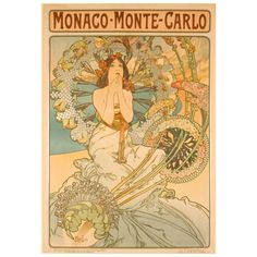 Original Mucha Art Nouveau Poster | From a unique collection of antique and modern posters at http://www.1stdibs.com/furniture/wall-decorations/posters/