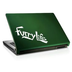 The Furry Life Decal is 7-1/2 wide and 2-3/4 high. Perfect for your laptop, and a great way to add a bit of Furry Fun to your car! This Furry