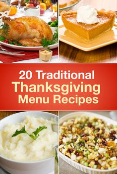 Plan the perfect traditional Thanksgiving with these 20 classic holiday dishes.  1. Good Eats Roast Turkeykitchme.comFirst and foremost comes your centerpiec