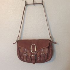 "BCBG Leather Purse EUC Drop: 14""; 12""L x 8""H x 4""W. The leather is in great condition. The hardware has some wear. But overall it is in good condition with plenty of life left.  BCBGMaxAzria Bags Shoulder Bags"