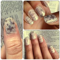 Newspaper nails Check out my facebook: Nail it