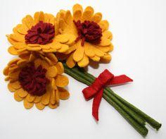 Keçeden Bir Demet Çiçek   Keçe Keçe - Keçe Blog