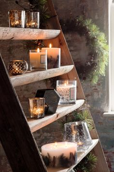 Beautiful scented candles from John Lewis to create a festive atmosphere at your home